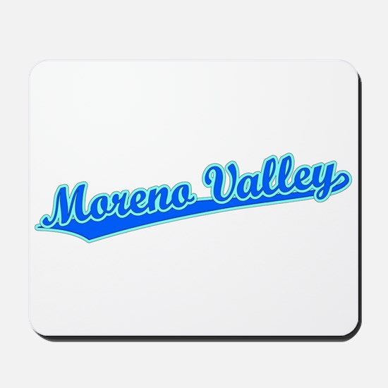 Retro Moreno Valley (Blue) Mousepad