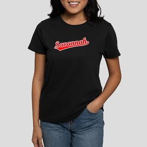 Retro Savannah (Red) Women's Dark T-Shirt
