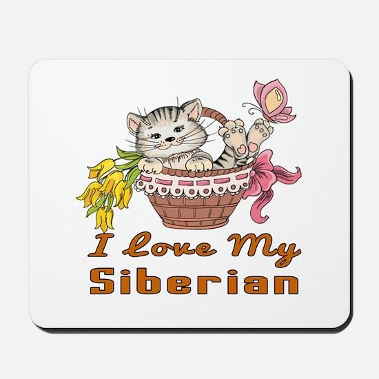 I Love My Siberian Designs Mousepad