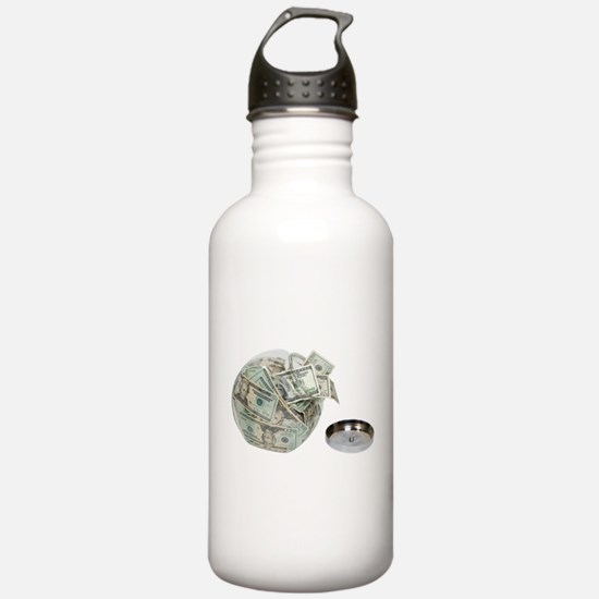 CookieJarMoney050110.p Sports Water Bottle