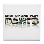Shut Up And Play Tile Coaster
