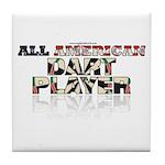 All American Dart Player Tile Coaster