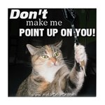 Point Up Cat Tile Coaster