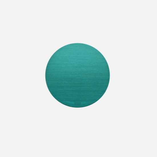 Brushed Teal Mini Button