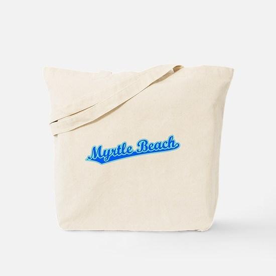 Retro Myrtle Beach (Blue) Tote Bag