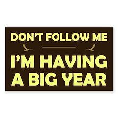 Don't Follow Having Big Year Rectangle Decal