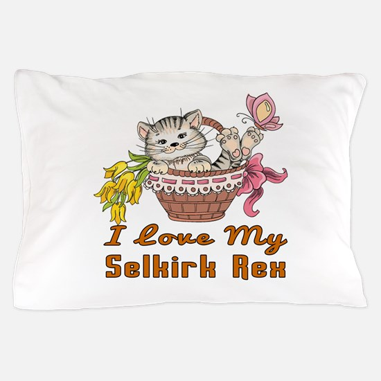 I Love My Selkirk Rex Designs Pillow Case