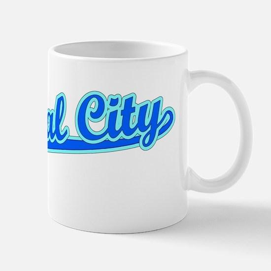 Retro National City (Blue) Mug