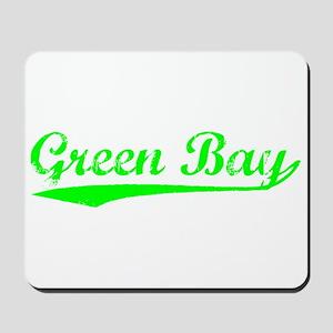 Vintage Green Bay (Green) Mousepad