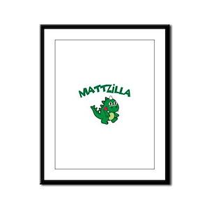 Mattzilla Framed Panel Print