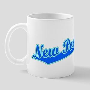 Retro New Port Ric.. (Blue) Mug