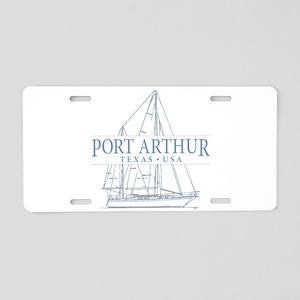Port Arthur Aluminum License Plate