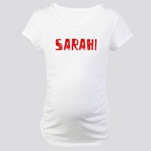 Sarahi Faded (Red) Maternity T-Shirt
