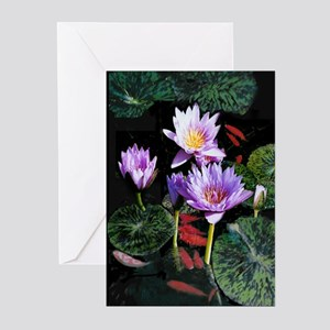 Water Lilies Greeting Cards (Pk of 10)