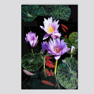 Water Lilies and Fish Postcards (Package of 8)