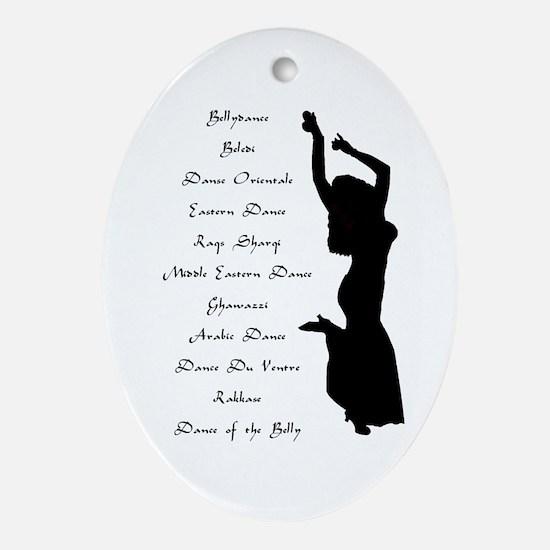 Names of Belly Dance Keepsake (Oval)