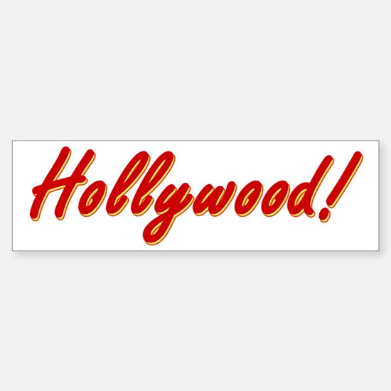 Hollywood! souvenir Sticker (Bumper)
