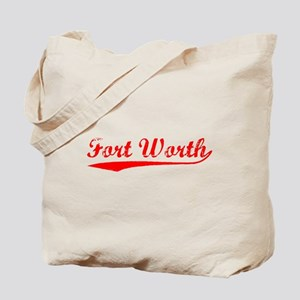 Vintage Fort Worth (Red) Tote Bag