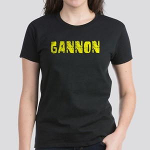 Gannon Faded (Gold) Women's Dark T-Shirt