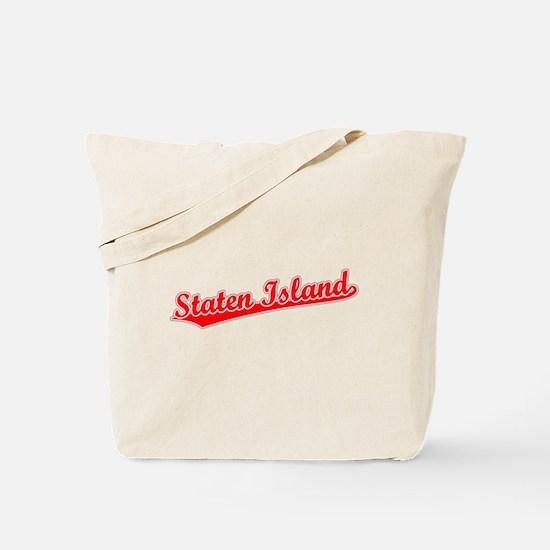 Retro Staten Island (Red) Tote Bag