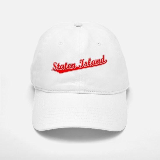 Retro Staten Island (Red) Baseball Baseball Cap