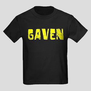 Gaven Faded (Gold) Kids Dark T-Shirt