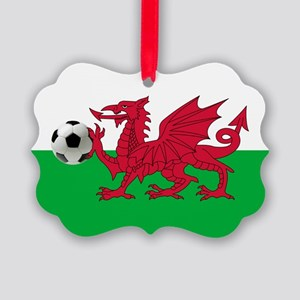 Wales Football Flag Ornament