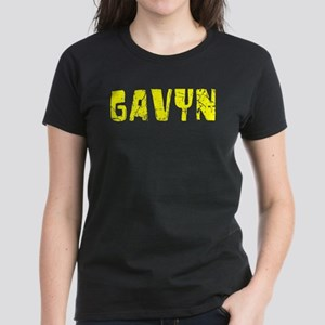Gavyn Faded (Gold) Women's Dark T-Shirt