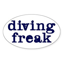 https://i3.cpcache.com/product/245470756/diving_freak_oval_decal.jpg?side=Front&color=White&height=240&width=240
