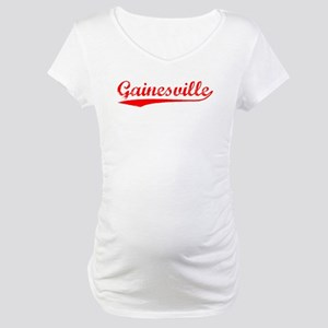 Vintage Gainesville (Red) Maternity T-Shirt