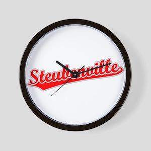 Retro Steubenville (Red) Wall Clock