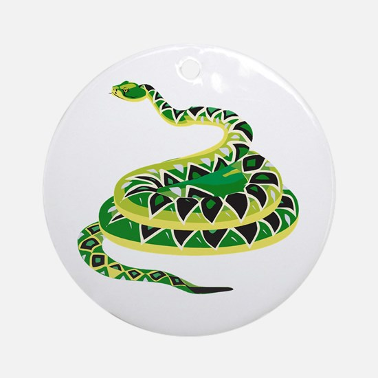 Green Snake Ornament (Round)