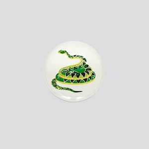 Green Snake Mini Button