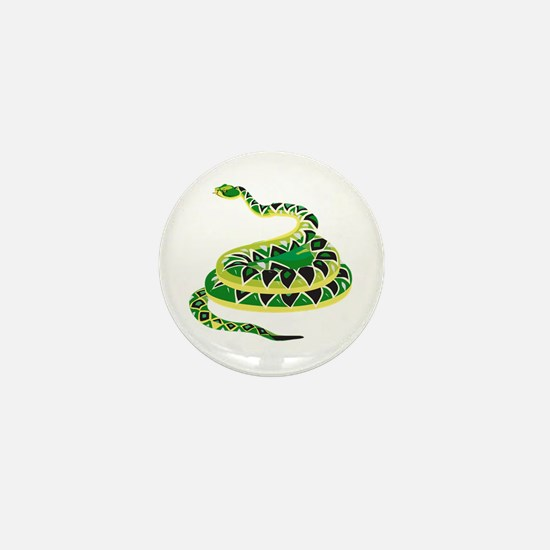 Green Snake Mini Button