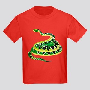 Green Snake Kids Dark T-Shirt