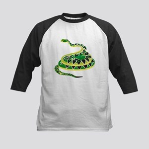Green Snake Kids Baseball Jersey