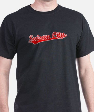Retro Suisun City (Red) T-Shirt