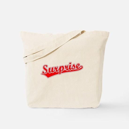 Retro Surprise (Red) Tote Bag