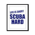 Scuba Hard Framed Panel Print