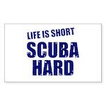 Scuba Hard Rectangle Sticker