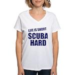 Scuba Hard Women's V-Neck T-Shirt