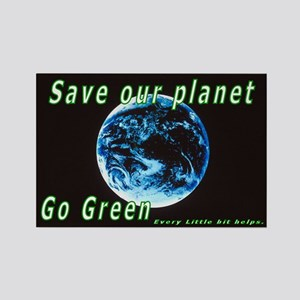 Save our Planet-Go Green Rectangle Magnet