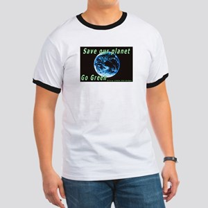 Save our Planet-Go Green Ringer T