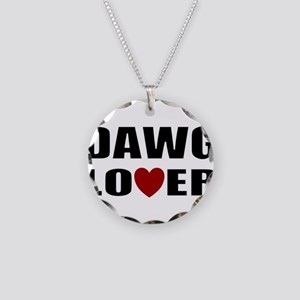 Bulldog lover Necklace Circle Charm