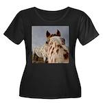 Humorous Equine Women's Plus Size Scoop Neck Dark