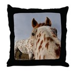 Humorous Equine Throw Pillow