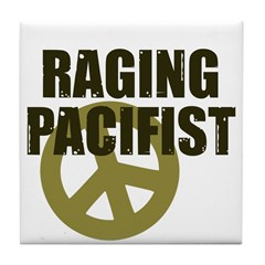 Raging Pacifist Tile Coaster