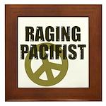 Raging Pacifist Framed Tile