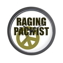 Raging Pacifist Wall Clock