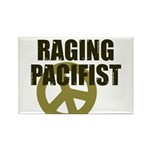 Raging Pacifist Rectangle Magnet (10 pack)